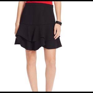 Lauren Ralph Lauren 20W Black Two Tiered Skirt